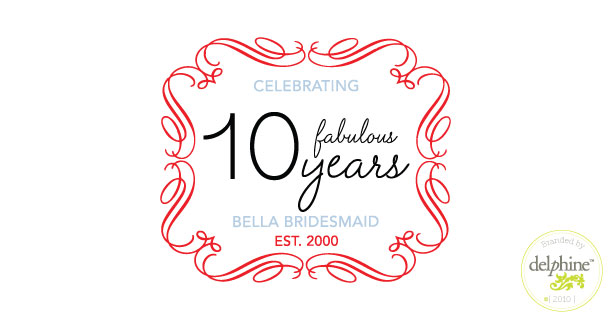delphine graphic design studio bella bridesmaid logo