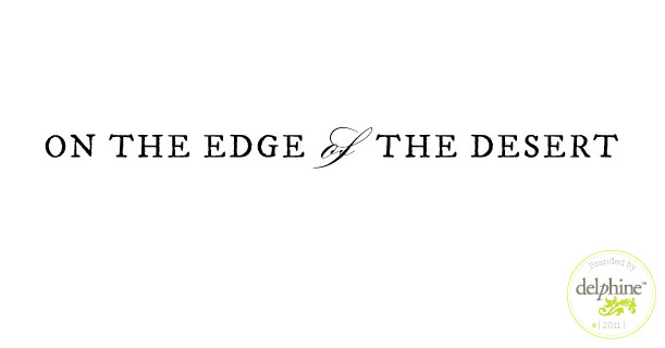 delphine graphic design studio edge of the desert logo