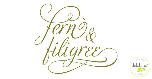 delphine graphic design studio fern filigree logo