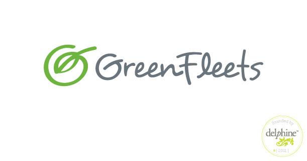 delphine graphic design studio green fleets logo