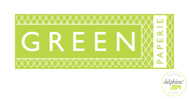 delphine graphic design studio green paperie logo