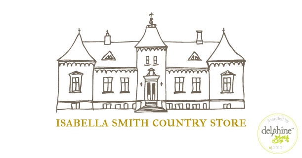 delphine graphic design studio isabella smith country store logo
