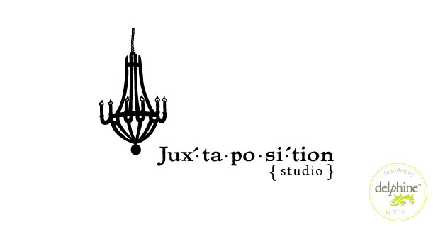 delphine graphic design studio juxtaposition studio logo
