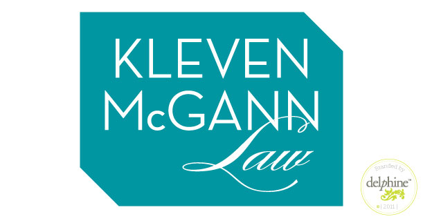 delphine graphic design studio kleven mcgann law logo