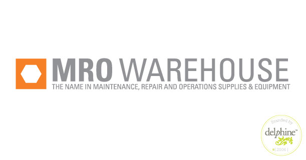 delphine graphic design studio mro warehouse logo