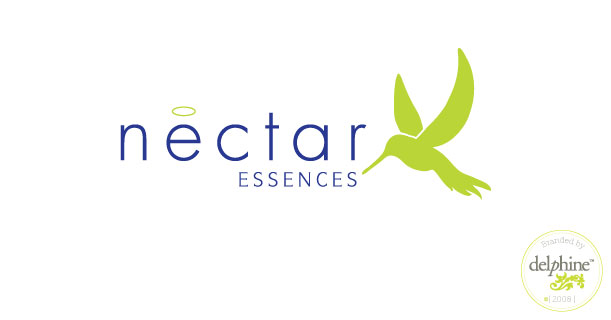 delphine graphic design studio nectar essences logo