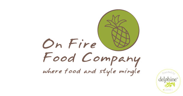 delphine graphic design studio on fire food company logo