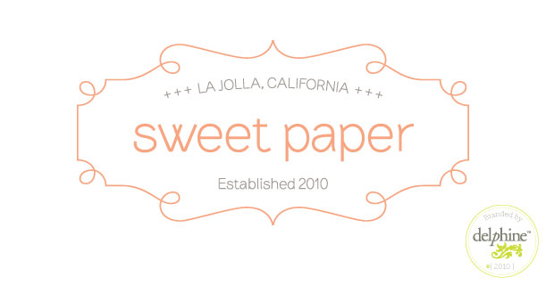 delphine graphic design studio sweet paper store logo