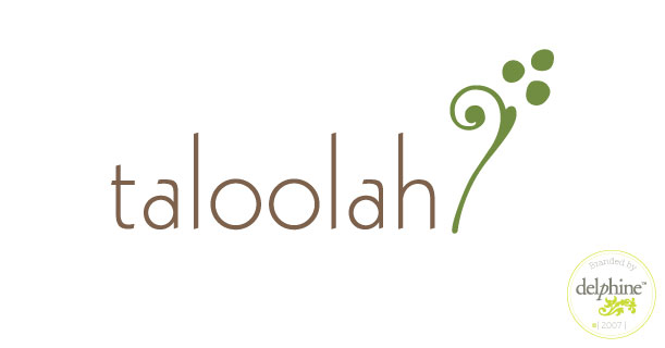 delphine graphic design studio taloolah shop logo