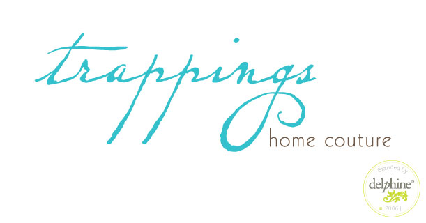 delphine graphic design studio trappings furniture logo