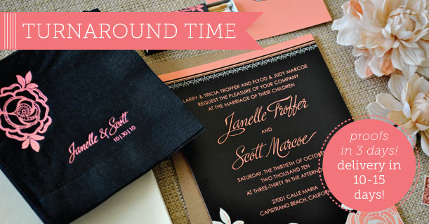 delphine turnaround letterpress and flat digital wedding invitations