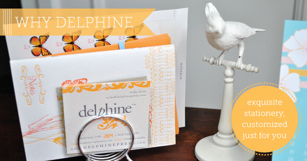 delphine custom printed letterpress and flat digital wedding invitations and stationery