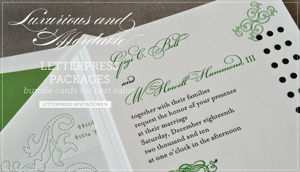 affordable letterpress invitations