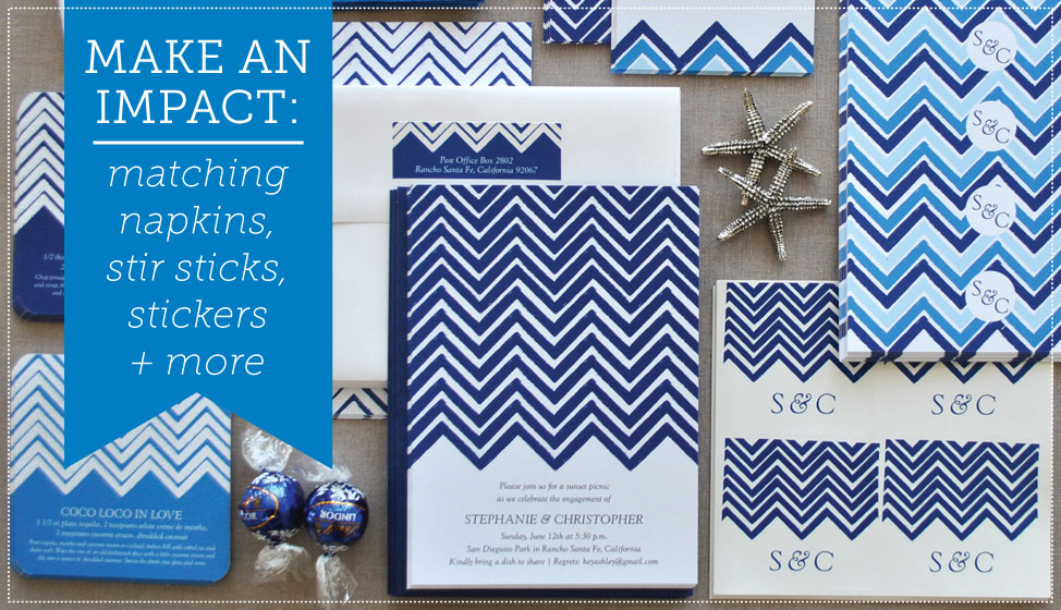 chevron wedding invitations by delphine