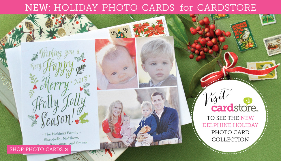 new holiday photo christmas cards by delphine