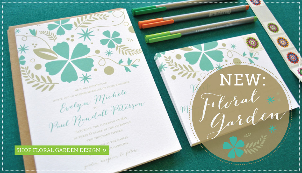 floral garden wedding invitations by delphine
