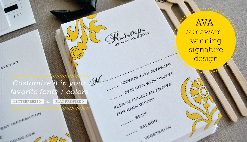 award winning letterpress wedding invitations by delphine