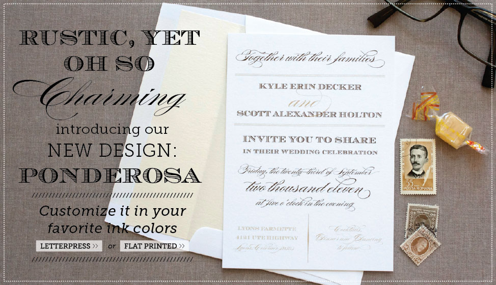 new rustic charming wedding invitations by delphine