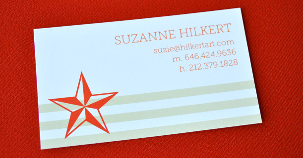 personal stationery custom printed newport in red and tan