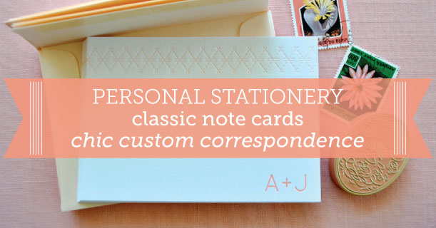 custom printed note cards for wedding invitations and personal stationery