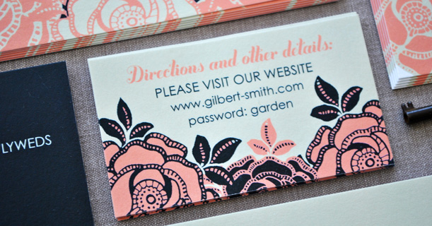 personal stationery custom printed rose in black and pink