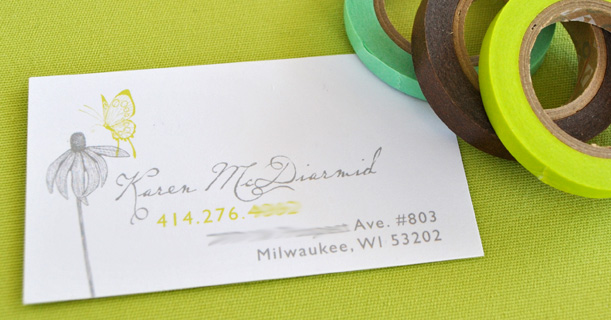 personal stationery custom printed savannah in green and brown