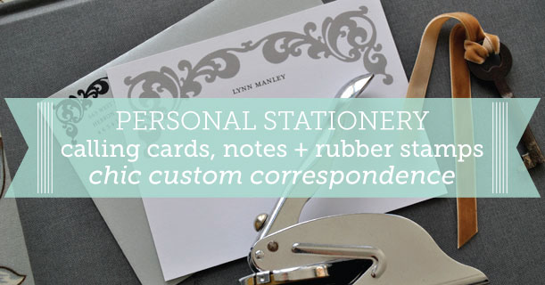personal stationery custom printed meeting street in gray and black