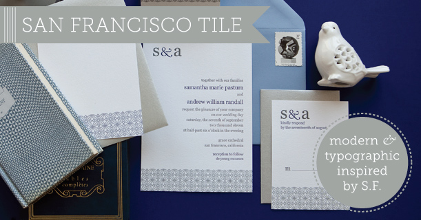 san francisco custom printed letterpress wedding invitations and personal stationery