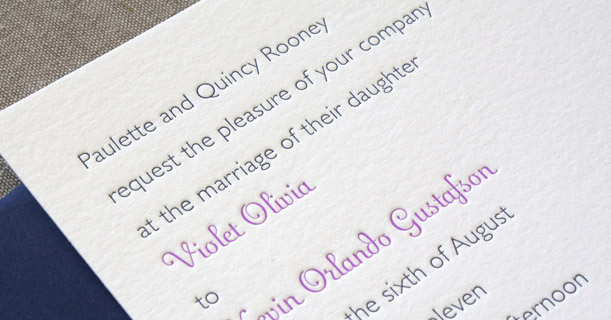 sullivans letterpress custom printed wedding invitations and stationery suite in your colors