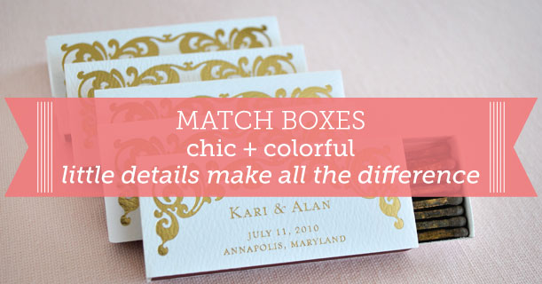 custom printed match boxes for wedding invitation and stationery