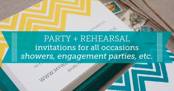 custom printed wedding party and reception invitations