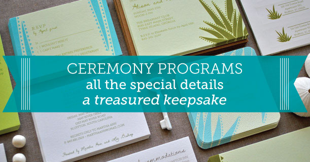 custom printed wedding programs