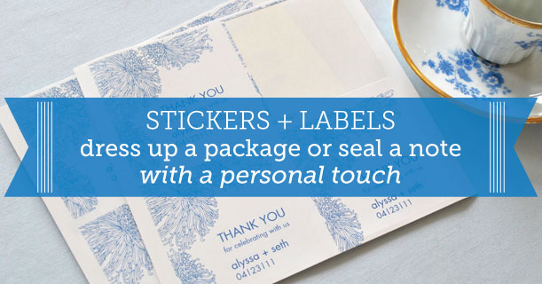 custom printed stickers for wedding invitations and stationery