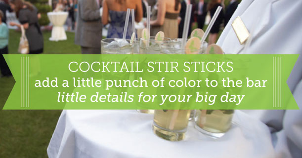 custom printed cocktail stir sticks for wedding invitations and receptions